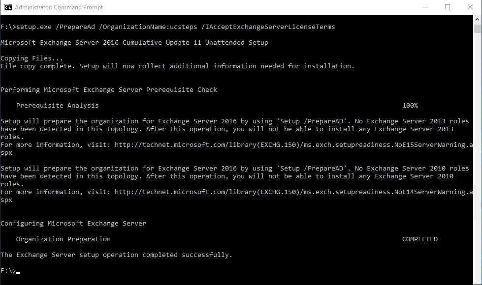 Installing Exchange Server 2016 UC Steps