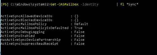 get-casmailbox