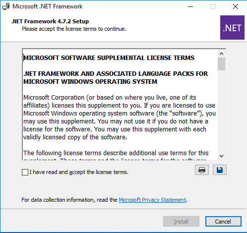 Install Exchange Server 2019 .net Framework 4.7.2