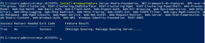 Install Exchange Server 2019 powerhsell commands