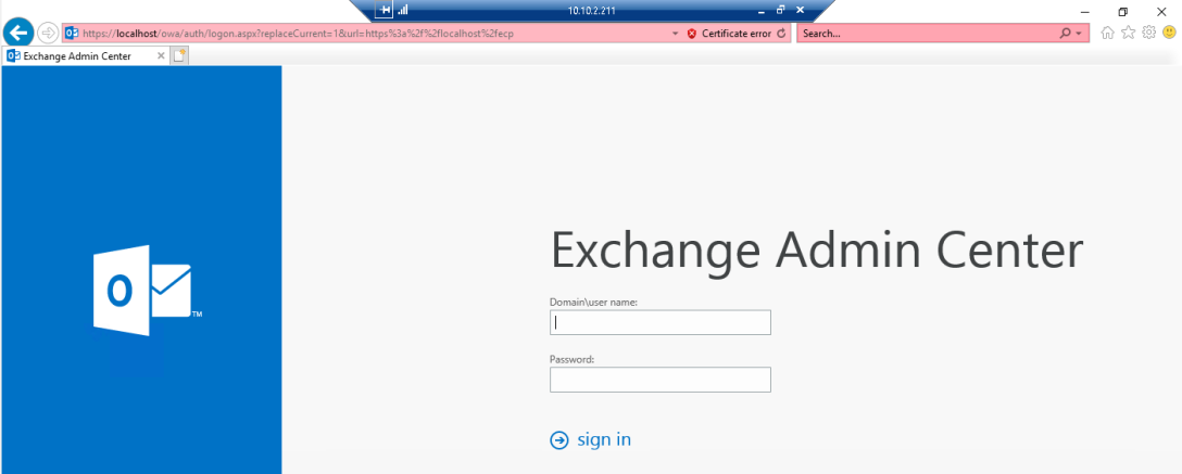 Install Exchange Server 2019